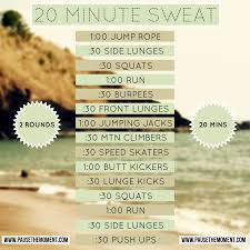20 minute sweat hiit bodyweight workout