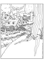 Coloring Page Elf Village Kleurplaat Elfen Stad