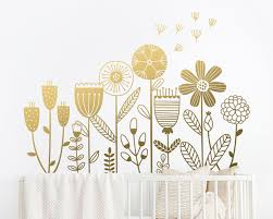 Flower Garden Wall Decal Flower Decals Dandelion Decal Girls Room Decals Girls Nursery Decals Flower Stickers Flowers Wall Decor