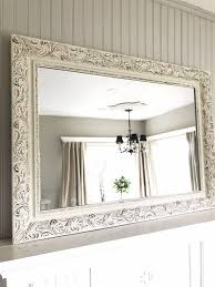 off white and black distressed mirror