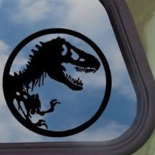Amazon Com Jurassic Park Black Decal T Rex Dinosaur Tyrannosaur Sticker Automotive