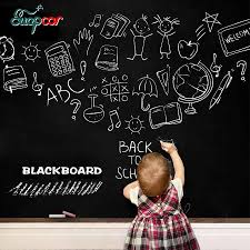 Chalk Board Blackboard Wall Stickers Removable Vinyl Draw Decal Poster Self Adhesive Wallpaper Mural Kids Room Office Home Decor Belenydogen