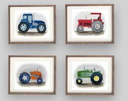 Tractor Nursery Etsy