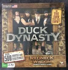 new duck dynasty family party game redneck wisdom over quotes