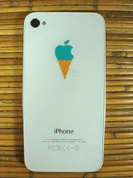 5x Ice Cream Or Froyo Cone Apple Logo Vinyl Sticker Decal For Iphone Cute Sweet And Awesome Iphone Decal Apple Stickers Apple Logo