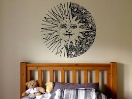 Moon And Stars Wall Decal Set Removable Vinyl Stickers For Children Baby Kids For Sale Online Ebay