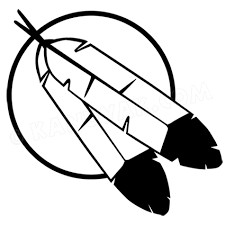 Eagle Feather Moon Decal Sticker Set For Canoe Or Kayak