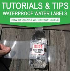 ly waterproof water bottle labels