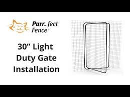 Light Duty Gate Installation Purrfect Fence