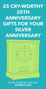 25th anniversary gifts for your silver