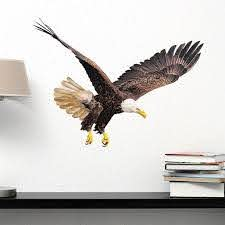 Flying Eagle Wall Decal By Style Apply Wall Sticker Vinyl Wall Art Home Decor Wall Mural Sd4014 46in X 33in Walmart Com Walmart Com