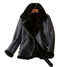 womens faux fur aviator coat jacket