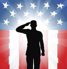 Patriotic Soldier Salute Wall Decal Wallmonkeys Com