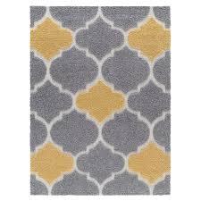 gray yellow area rug