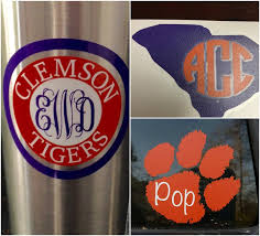 Clemson University Vinyl Decals Monogram Decals Etsy