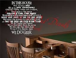 We Do Geek Vinyl Wall Decal Star Wars Star Trek Dr Who Guild Lord Of The Rings 19 95 Picclick