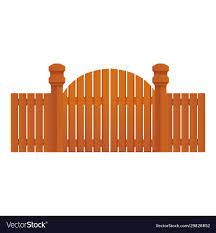 Farm Wood Gate Icon Cartoon Style Royalty Free Vector Image