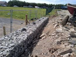 Gabions Used For Creating Retaining Area With Fence On Top Stratec Ltd