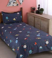 Buy Kids Cotton 200 Tc Kids Bedsheet With 1 Pillow Cover By Urban Dream Online Kids Single Bedsheets Kids Single Bedsheets Kids Furniture Pepperfry Product