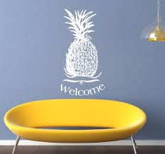 Wall Decal Pineapple Welcome Vinyl Wall Decal 22310 On Luulla