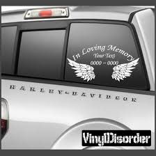 Wings 2 In Loving Memory Custom Car Or Wall Vinyl Decal Stickers In Loving Memory Vinyl Wall Decals Vinyl Decal Stickers