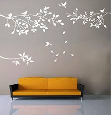Elegant Tree And Birds Wall Decal Art Branch