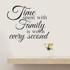 Time Spent With Family Wall Quote Decal Family Love Quotes Stickers Wall Lettering Decals Wall Decor For Living Room Wl562 Wall Stickers Aliexpress