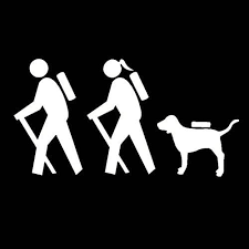 Amazon Com Decaldestination Couple Hiking With Dog Decal White Choose Size Handmade