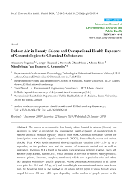 pdf indoor air in beauty salons and