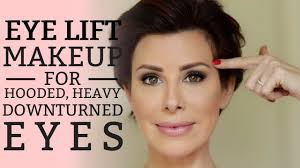 eye lift makeup for hooded heavy or