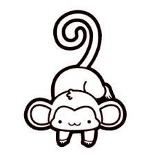 Cute Monkey Vinyl Decal Wall Window Sticker Ebay