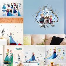 Cartoon Frozen Elsa Anna Princess 3d Effect Wall Stickers For Girls Room Home Decoration Mural Art Posters Kids Wall Decals Gift Buy At The Price Of 1 03 In Aliexpress Com Imall Com