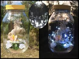 solar jar lights unicorn lantern