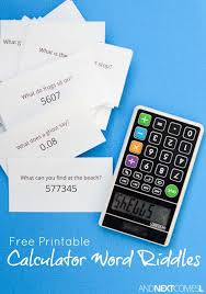 Free Printable Calculator Word Riddles For Kids Word Puzzles For Kids Word Riddles Calculator Words