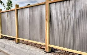 Corrugated Metal Fencing Design Inspiration For Residential Commercial And Agricultural Fences In 2020 Corrugated Metal Fence Fence Design Metal Fence