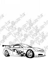 Vinyldisorder Infinty G35 2 Outlaw Tuner Rice Rocket Car Vinyl Decal Car Window Stickers 07 Home Home Decor Wall Decor Wall Art