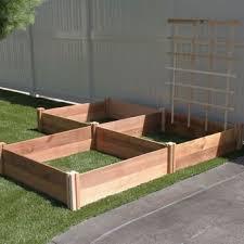raised garden bed 3 pk with trellis