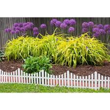 White Plastic Garden Fencing Landscaping The Home Depot