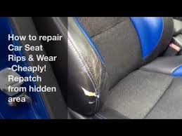 how to fix a torn car seat ly