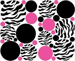 Great Zebra Print Hot Pink And Black Dots Wall Stickers Decals Deals 2014 Best Place To Buy Zebra And Hot Pink High Heel Shoe Chair
