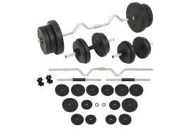 vidaxl barbell and dumbbell set 60 kg