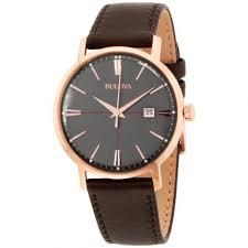 bulova classic men s leather watch