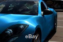 Xpo Electric Blue Brushed Steel Vinyl Vvivid Car Wrap Diy Sheet Roll Film Decal