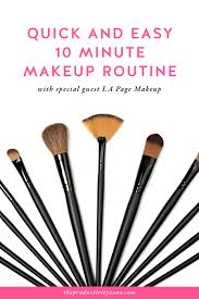 quick and easy 10 minute makeup routine