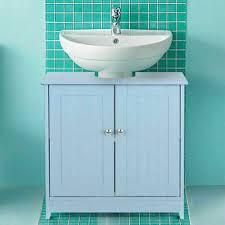pedestal sink cabinet vanity bathroom