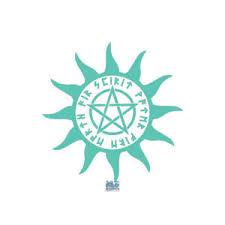 Wiccan Pentagram Sunburst Vinyl Sticker Decal Wicca Pagan 5 Elements Druid Ebay
