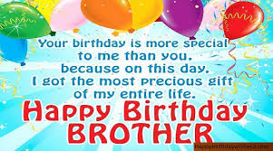 best happy birthday wishes messages quotes status for brother