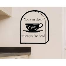 Vmr Customization You Can Sleep When You Re Dead Coffee Quote Vinyl Wall Art Decal Sticker 16x18 5