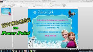Ideas Fiesta Frozen Como Hacer Invitaciones Para Fiesta De Frozen Para Imprimir Maquitips Youtube
