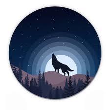 Wolf Howling Night Sky Vinyl Sticker Waterproof Decal Sticker 5 Walmart Com Walmart Com